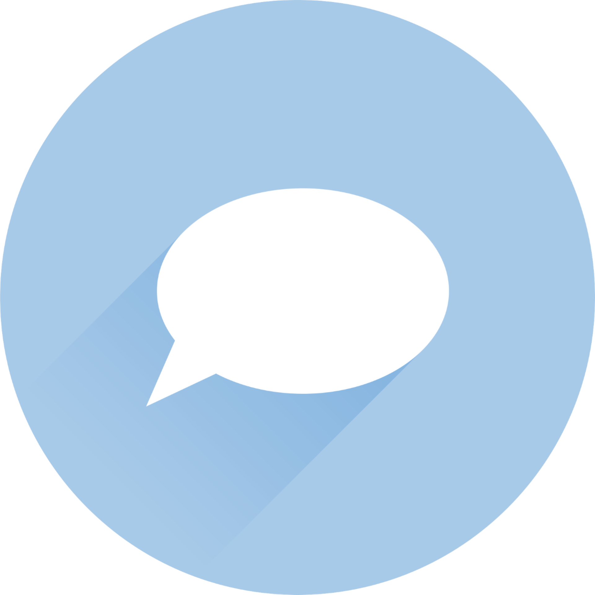 Branded Icon Speech Bubble Support